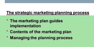 Managing Marketing Plan