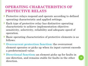Operation, Characteristic, Protection & Relaying