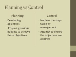 Planning & Controlling 2